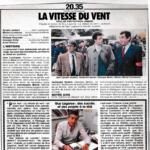 Télévision - Anne Deleuze dans «La Vitesse du Vent»